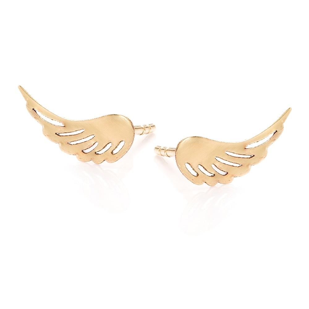 Kolczyki SOFT złote skrzydła