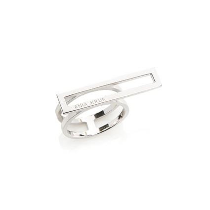 Pierścionek FRAMES srebrny z prostokątem