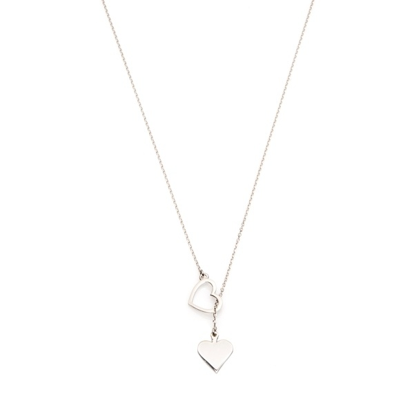 Naszyjnik ROMANTICA srebrny z sercem i symbolem pik