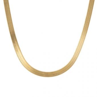 Naszyjnik VINTAGE srebrny pozłacany żmijka 5 mm