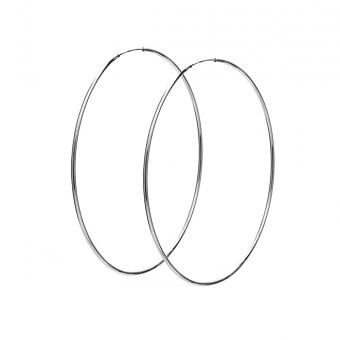 Kolczyki TRENDY srebrne koła 6 cm
