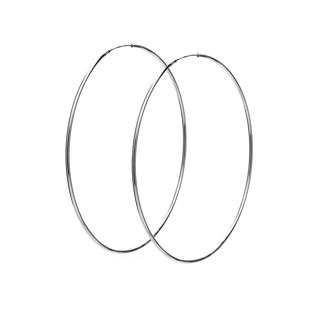 Kolczyki TRENDY srebrne koła 5 cm